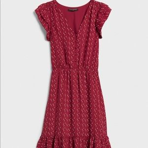 Banana Republic Flutter Sleeve Fit and Flare Dress